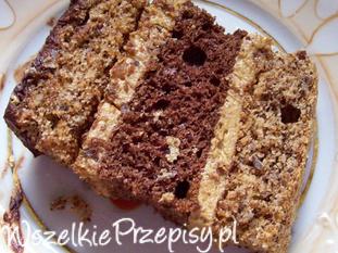 Orzechowo kawowe ciasto
