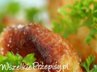 Pieczone ziemniaki z kurkami