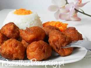 Kawalki kurczaka w cieście kokosowym