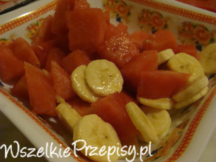 Banany z arbuzem
