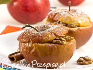 Jabłko pieczone z owsianym nadzieniem