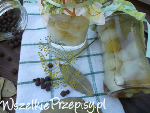 Marynowane cebulki