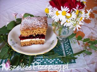 Ciasto piernikowe z wiśniami