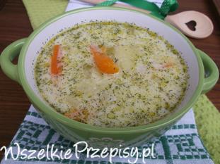 Zupa porowo - koperkowa.