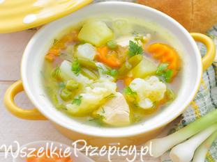 Zupa kalafiorowa z kurczakiem