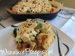 Zapiekanka ziemniaczana z kurczakiem i z warzywami