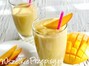 Koktajl jaglany z mango i owocami goji