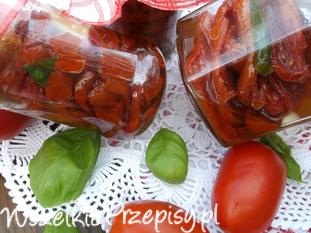 Suszone pomidory w oliwie.