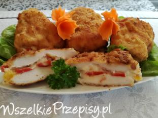 Poduszeczki z kurczaka z serkiem oraz papryką