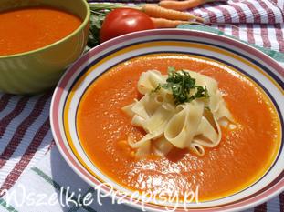 Zupa ze świeżych pomidorów.