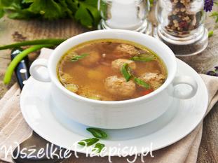 Zupa czosnkowa z pulpecikami