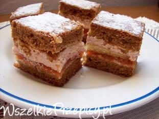 Ciasto z masą jabłkowo- wiśniową