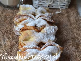 Ciasteczka drożdżowe - kokardki