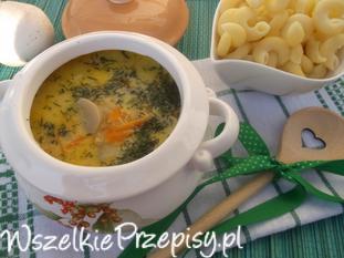 Pieczarkowa zupa.