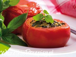 Pomidory zapiekane ze szpinakiem