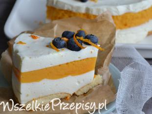 Sernik na jogurtach greckich z musem dyniowo-pomarańczowym