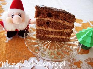 Ciasto z kefirem i masą czekoladową