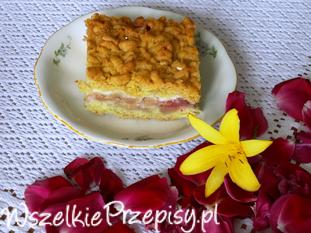 Kruche ciasto z malinami i jabłkami