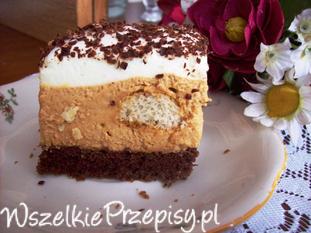 Ciasto z masą krówkowo- kakaową