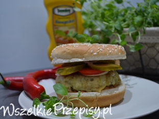 Boczniakowy hamburger