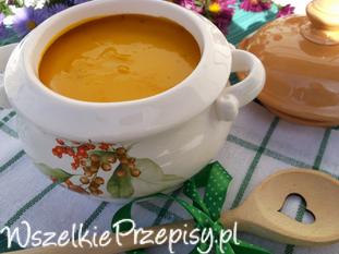 Zupa - krem marchewkowy.